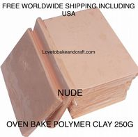Polymer clay.  250g. Oven bake polymer clay, Nude, Flesh, figurine clay,  Free worldwide shipping